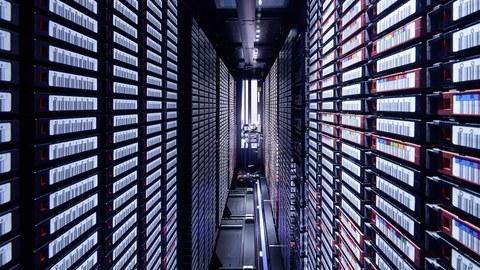 Blick in einen Serverraum.