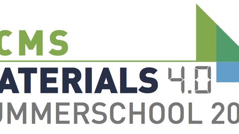 Logo of the DCMS Summer school Materials 4.0 in 2017