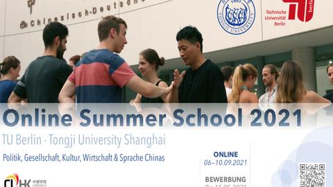 Poster zur Ankündigung der Online Summer School