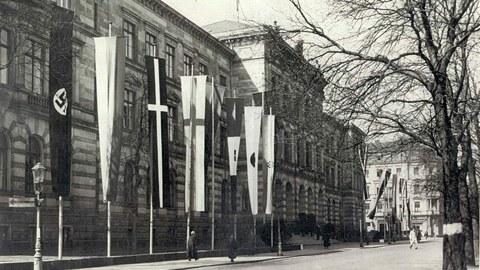 Hauptgebäude der TH Dresden im Nationalsozialismus