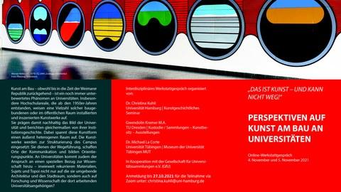 Flyer zum Werkstattgespräch Kunst am Bau