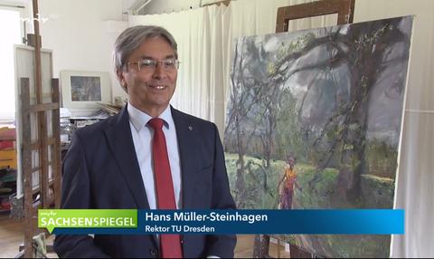 """mdr Sachsenspiegel """"Rektor der TU Dresden wird zum Abschied porträtiert"""", 25.6.2020"""