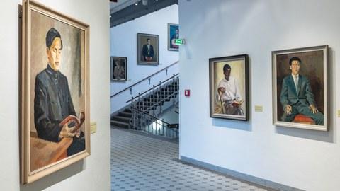 Ausstellungsansicht Sonderausstellung Ostmoderne #2. Der Kunstbesitz der 1960er-Jahre in der Altana Galerie der Kustodie der TU Dresden, September 2020 bis Januar 2021