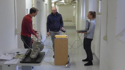 Scan eines Helmholtz-Resonators mit einem Handscanner
