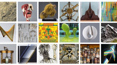 Mosaik verschiedener Sammlungsobjekte