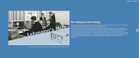 Website mit Zeitstrahl: Der Anfang vor dem Anfang