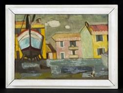 Wilhelm Lachnit, Italienische Landschaft I, 1957