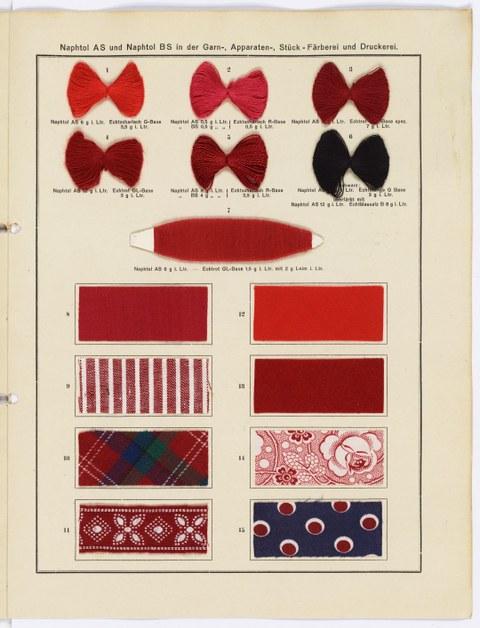Färbemuster für Naphtolfarben, Chemische Fabrik Griesheim-Elektron 1921