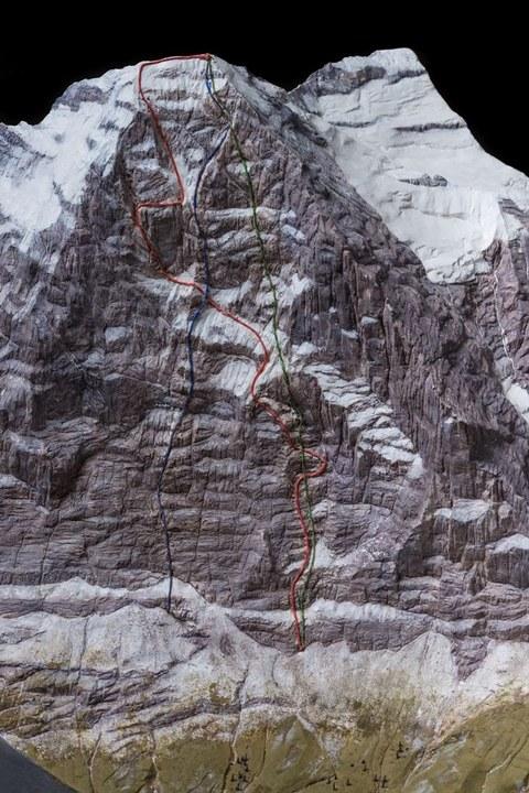Modell Eiger Nordwand