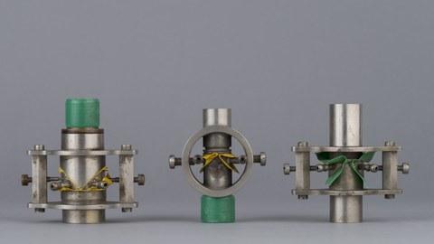 Polsterpfeifen (Stimmlippen-Modelle) nach Wethlo, um 1913