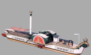 """Modell des Personendampfschiffs """"Königin Maria"""", um 1965"""