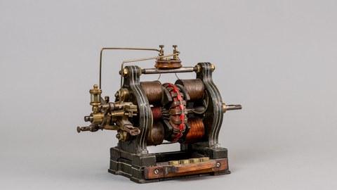 Gleichstrommotor, Kummer & Co, Dresden um 1890