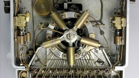 Pneumatische Schreibmaschine von Paul Soblik, Unterseite, 1911