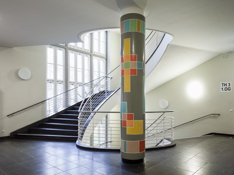 Hermann Glöckner: Spektralanalyse, Kunst am Bau, 1957