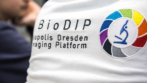 Biodip-Logo auf T-Shirt