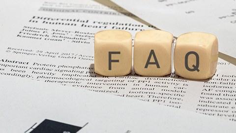 Bild mit FAQ Würfeln