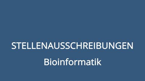 Stellenausschreibungen Bioinformatik