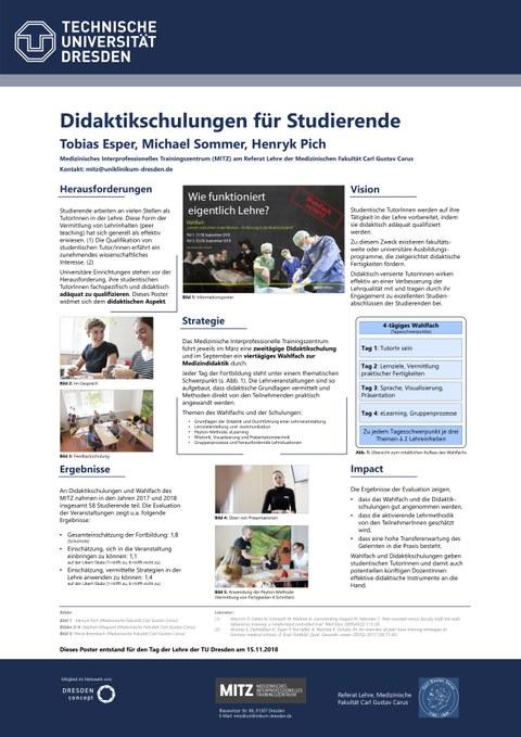 Poster Didaktikschulungen für den Tag der Lehre 2018