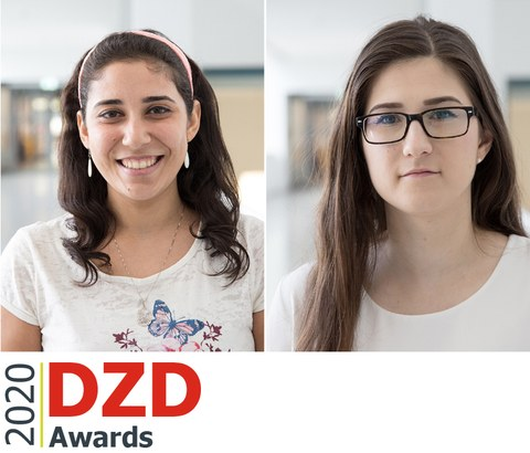 Portraits of the two winners of the DZD Award 2020: Nermeen El-Agroudy and Zuzana Marinicova