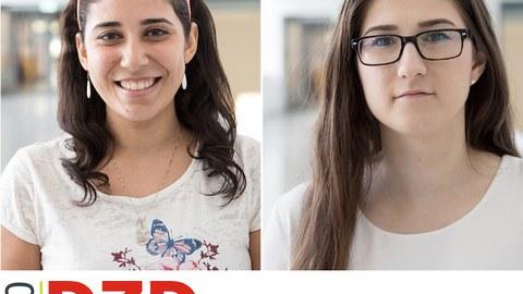 Portraits der beiden Gewinnerinnen des DZD Awards 2020: Nermeen El-Agroudy und Zuzana Marinicova