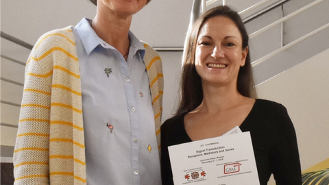 Prof. Klaudia Giehl (GBM/Gießen,links) and Dr. Theresia Gutmann (PLID, rechts)