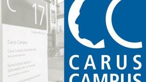 Haus 17 und Logo Carus Campus