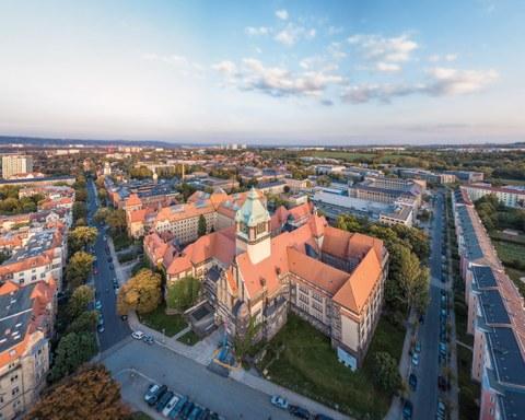 Luftaufnahme Campus am Münchner Platz