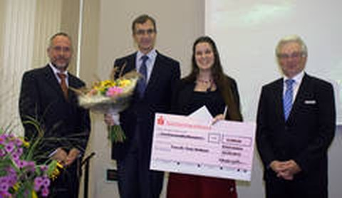 Tony Heitkam erhält den Gaterlebener Forschungspreis