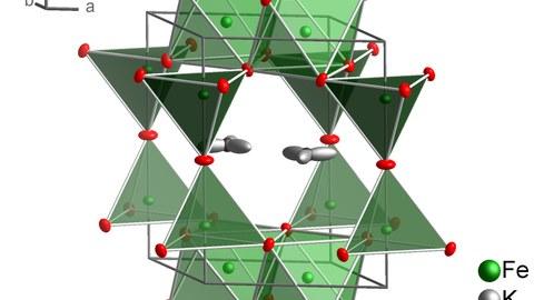 K2Fe4O7 Kristallstruktur