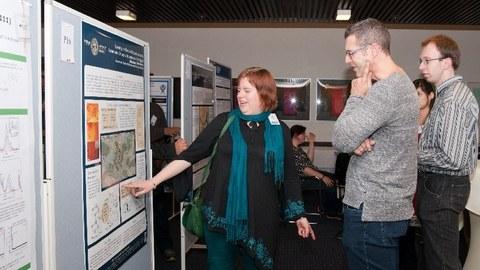 Postersession auf dem Symposium zu ionischen Flüsssigkeiten in Goslar im März 2016.