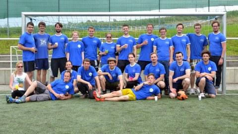 Fussballgruppenbild