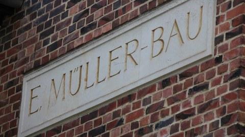 Schrift Erich Müller Bau
