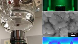Spektroskopischer RRDE Aufbau und visualisierte Oberflächen