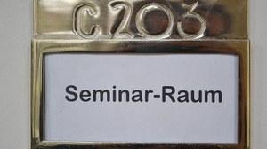 Schild Seminarraum