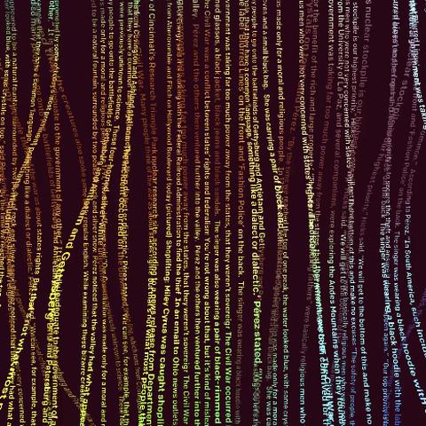 text strings illustration
