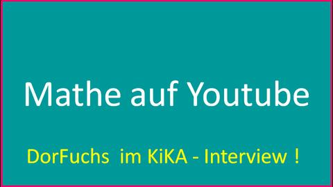 DorFuchs im KiKA-Interview