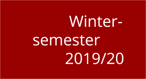 Logo Wintersemester 2019/20