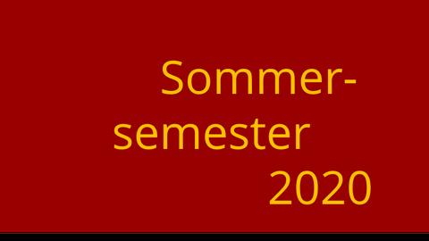 Logo Sommersemester 2020