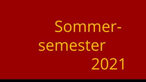 Logo Sommersemester 2021