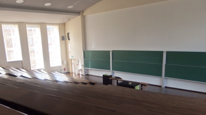 A photo of an empty lecture theatre