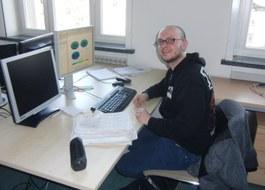 Ingo Nitschke am Arbeitsplatz