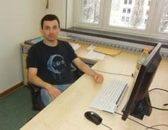 Matthias Wagner am Arbeitsplatz