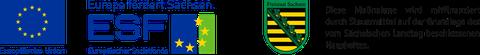 ESF- und Sachsen-logo