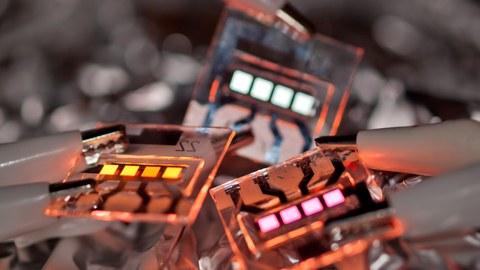 verschiedenfarbige OLEDs