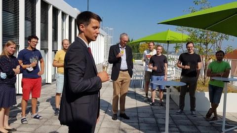 Bild von der Habilitationsfeier von Dr. Hans Kleemann