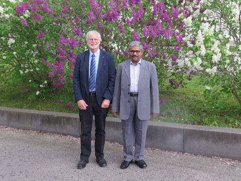 Prof. Dr. Satyam Suwas und Prof. Dr. Werner Skrotzki