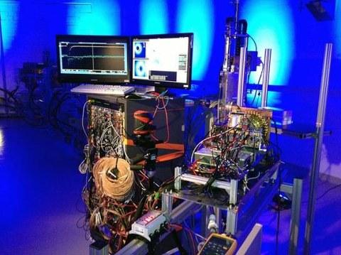 Experimentierhalle Protonenstrahl
