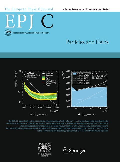 EPJC 2016 Titelseite