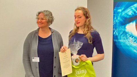 Anastasia Vöhringer beim BeLL-Prix Wettbewerb