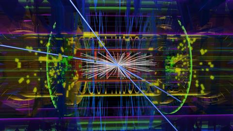 Spuren einer Teilchenkollision in ATLAS-Detektor